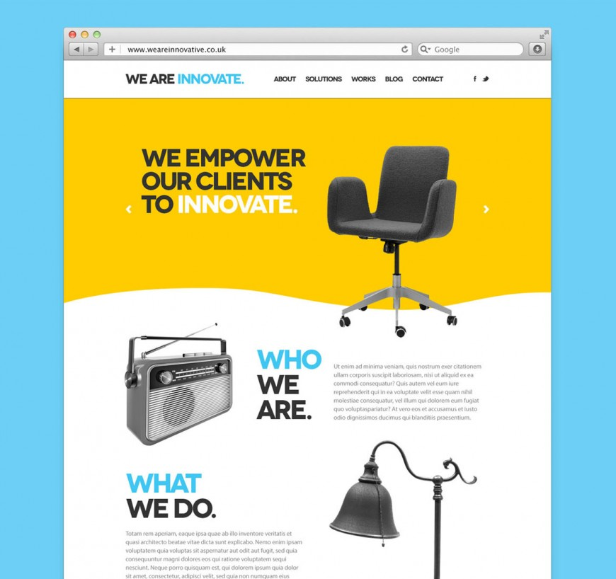 Web Design for We Are Innovate